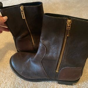 Tory Burch brown and gold boot